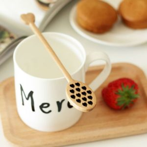 Cuillère à miel et/ou thé en bois