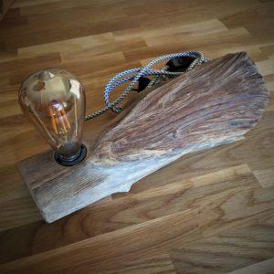 Luminaire à poser en bois flotté d'acacia