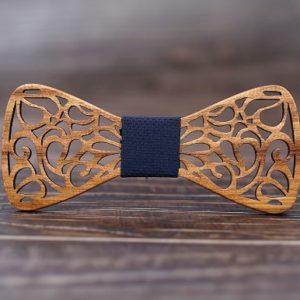 Nœud de papillon en bois «Dentelle»