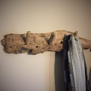 Patère triple en bois flotté de chêne