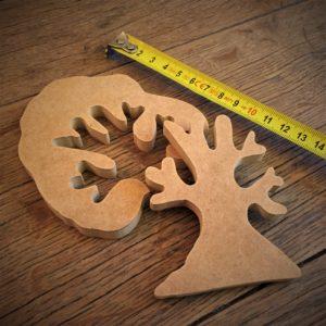 Puzzle «Arbre à décorer» en bois composite (Médium)