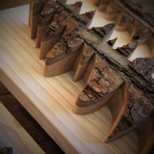 Déco cadre Sapin sur bois massif patiné (tarif/pce)