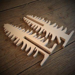 Puzzle «Sapin de Noël 3D» en bois massif naturel de tilleul
